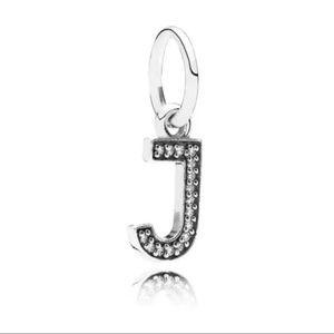 NEW Authentic Pandora Alphabet Letter J Charm